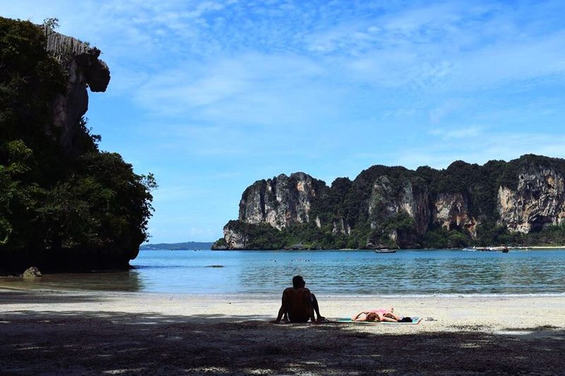 Sea Relaxation Beauty In Nature Sky Beach Outdoors Nature Krabi Thailand Thailand Thailandtravel Railay Beach Sea And Sky Beach Life Life Is A Beach Vacations Travel Destinations Travel Traveller