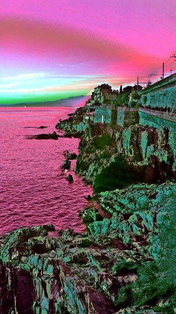 scogliera di Nervi Rock DroidEdit Sunseteffect