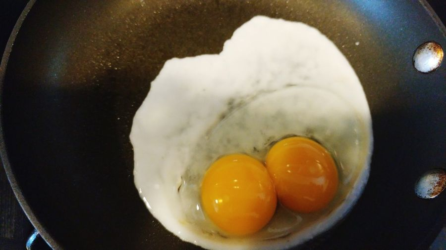 Egg Egg Yolk Egg White Food And Drink No People Preparation  Double Yolk Food Cooking