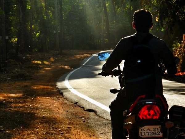 The lone rider Rear View One Man Only Adult Men Outdoors Motorsport Nature Nikon AW130 Transportation Riding Silhouette Roadtrip Incredible India EyeEm Gallery Landscapes Street Photography People Be. Ready.