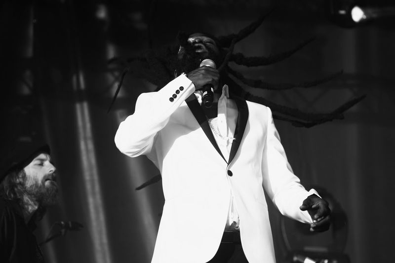 Monochrome Photography Black And White Reggae Sun Ska Reggae Music  Reggae Festival Sing Black And White Waist Up Person One Person One Man Only Business Finance And Industry Adult Only Men Young Adult Horizontal People Men One Woman Only Outdoors Day