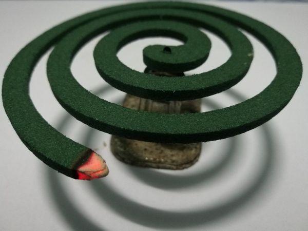 Mosquito Repellant Circle Green Smoke Protect Close-up EyeEm