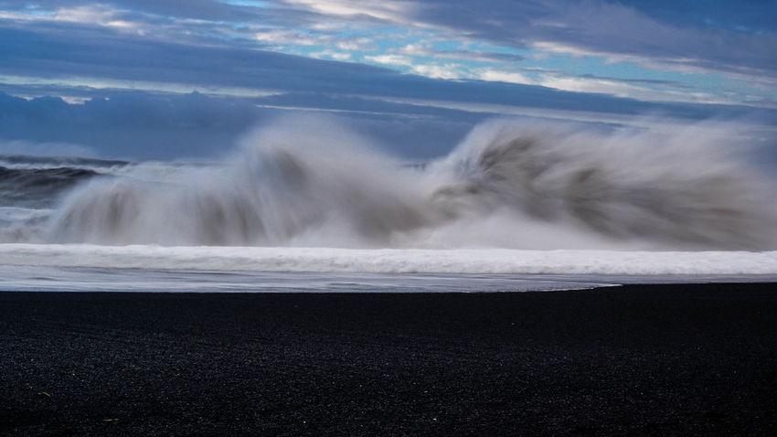 Blacksandbeach Iceland Iceland_collection Idyllic Long Exposure Photography In Motion Reykjavik Reynisfjara Tranquil Scene Tranquility Vik Vik, Iceland Waves Waves Crashing The Great Outdoors - 2018 EyeEm Awards