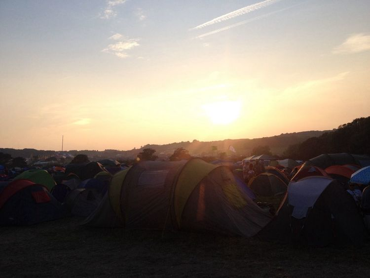 The only picture I got at Bestival Nofilter Sunset