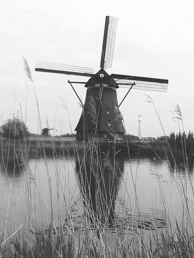Windmill Of The Day Windmill Village Windmill By Night Windmill Fields Windmills #photography Rotterdam Netherlands ❤