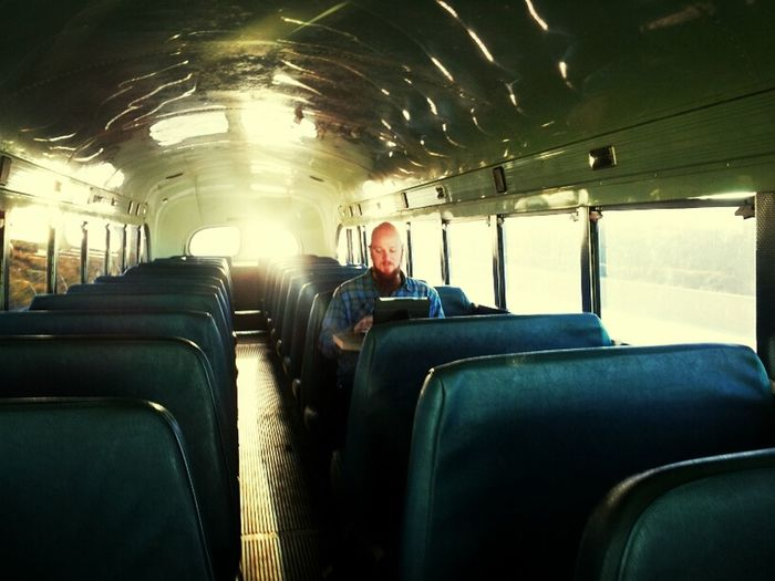 Student,bible,bus