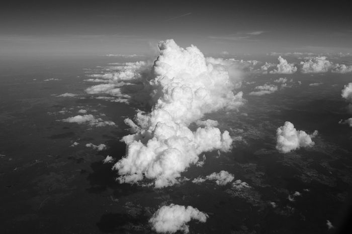 Feel The Journey Blackandwhite Landscape Skyporn Sky And Clouds Flight Plane View Lufthansa Wadding Cotton Candy Clouds  On The Way Fine Art Photography