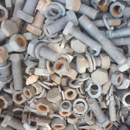 Backgrounds Full Frame Stack Nut - Fastener Variation Metal Close-up