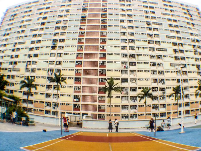 Rainbow Colors HongKong Hk Architecture Building Exterior Built Structure