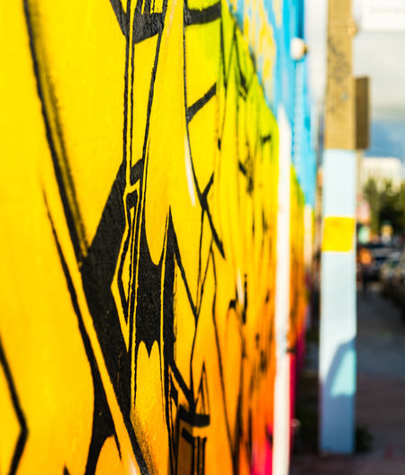Architecture Close-up Day Grafitti No People Outdoors Wynwood Walls Yellow Paint The Town Yellow