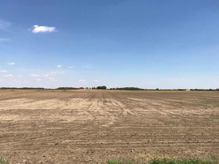 Indiana Farm Land Field Landscape Agriculture Day Plough Rural Scene Outdoors Blue Sky No People Nature Beauty In Nature