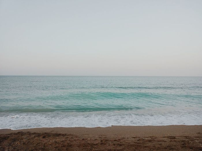 Sea Horizon Over Water Beach Beauty In Nature Water Scenics Copy Space Copy Space Over Ocean Copy Space Over Sea Naturem sea] Day At Sea Day At The Beach natureNo PeopleeSanddTranquilityyTranquil SceneeOutdoorssDayyWaveeSkyy
