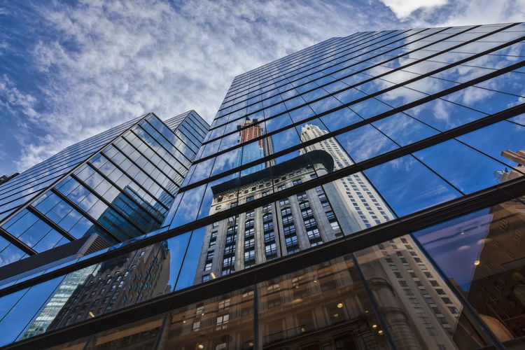 Midtown Office Buildings Architecture Perspective Modern Architecure Reflective Architetcure Glass Architecture Reflections Built Structure Building Exterior Office Building Exterior Modern