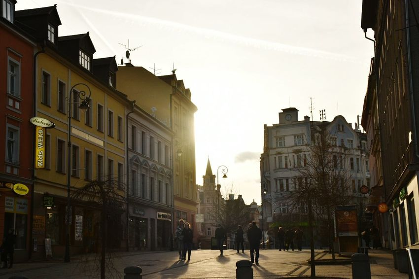 City Street Building Exterior Sun Outdoors Perfect Moment Karlovy Vary
