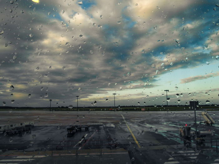 Cloudy sky over landscape