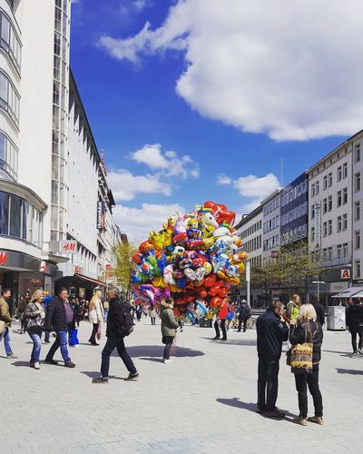 Hannover Innenstadt Large Group Of People Sky People Outdoors City Day Multi Colored Building Exterior Hannover, Germany Hannover City