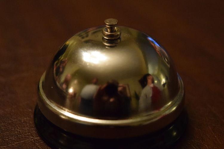 Bell Reflection Shiny Bellhop Chrome Hotel Ring Ringer