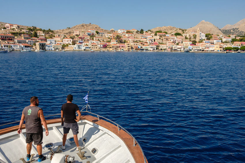 Approaching Halki - Aegean, Greece 2018 Aegean Halki Mediterranean  Travel Adventure Architecture Building Exterior Built Structure Day Discovery Greece Island Nature Nautical Vessel Outdoors Sea Sky Traditional Transportation Water