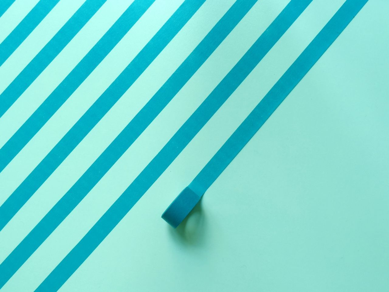Striped made from adhesive tape on wall