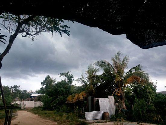 Thunderstorm Rain Chachoengsao Thailand