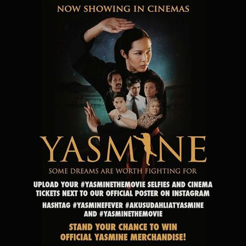 Stand a chance to win official Yasmine merchandise by posting your selfies and cinema tickets next to our official poster and hashtag Yasminefever Akusudahliatyasmine and YasmineTheMovie . Happy weekend, Brunei ! Go see yasminethemovie at your favourite cinema, with your favourite people!