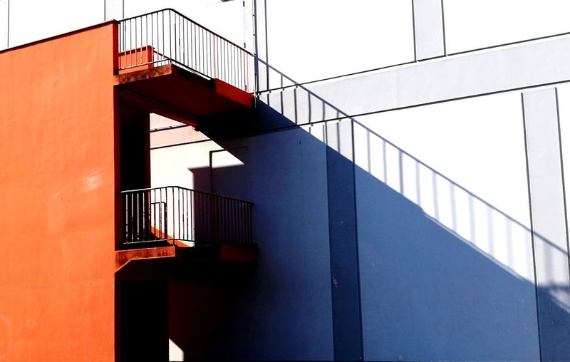 Minimalism Abstract Architecture Architectural Feature Architectural Detail Orange Color Light And Shadow Shadows & Lights City Steps And Staircases Architecture Built Structure Sky Staircase Stairs Steps Stairway Emergency Exit EyeEmNewHere 17.62° The Architect - 2019 EyeEm Awards