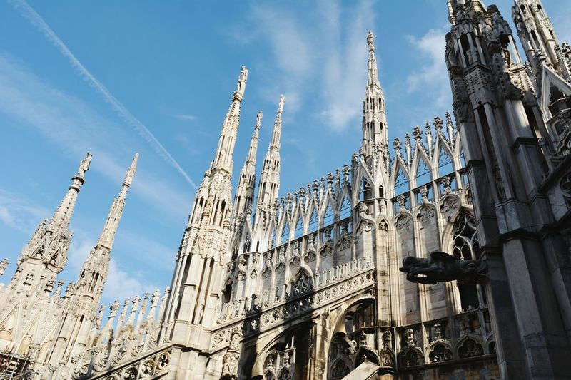 Finance Travel Destinations Business Finance And Industry No People Cultures Vacations Outdoors Sky Day Duomo Di Milano Milan Cathedral Milan,Italy Milan Milano Architecture Tourism Travel Built Structure Building Exterior My Year My View Finding New Frontiers EyeEmNewHere