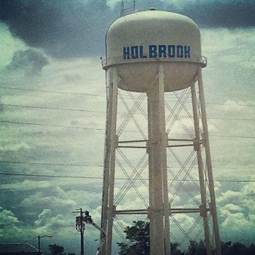 Holbrook Holbrookaz AZ Arizona holbrookwatertower watertower holbrookarizona sky greysky bluesky clouds cloudy