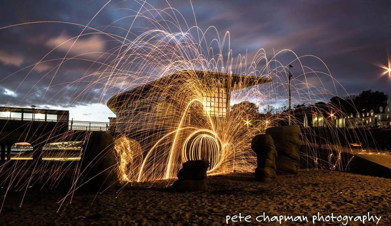 Boscombe Pier  Longexposure Steel Wool Spinning