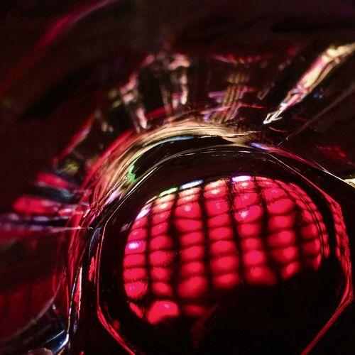Extreme close up of illuminated car
