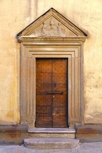 Bas relief over door