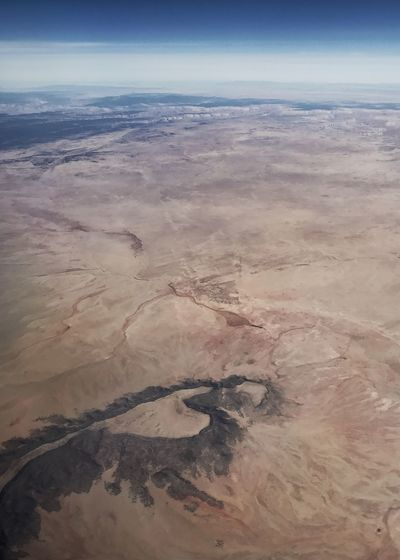 Mesa in the desert. Vertical Geology Erosion Rugged Landscape Desert Colors Desert Arid Landscape Mesa Aerial View Landscape Nature No People Scenics Tranquil Scene Outdoors Arid Climate Desert Sky Day