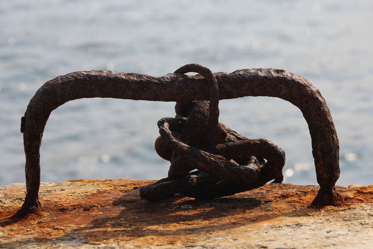 Casablanca Water Strength Close-up Rusty Chain Iron Deterioration Abandoned Obsolete Anchor - Vessel Part First Eyeem Photo