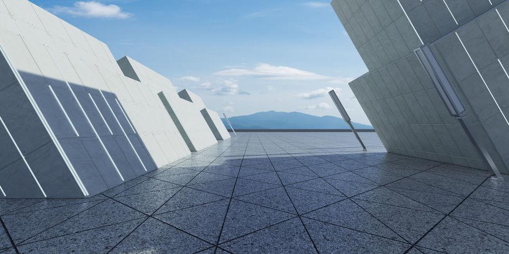 Panoramic shot of building against sky