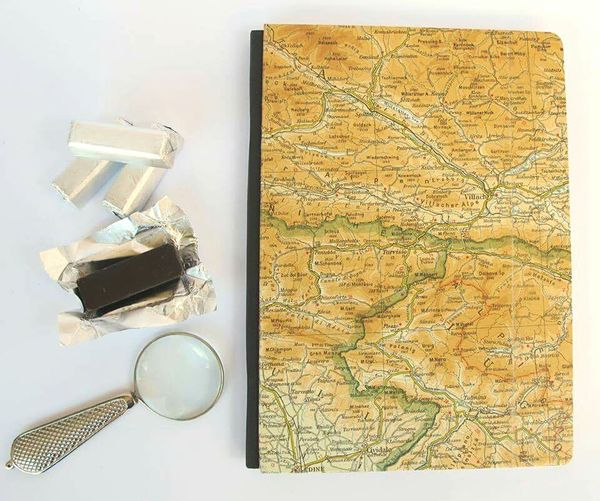 Handmade For You Close-up Note Pad Paper Paper Pad WashiTape Home Bookpad Craft Handmade Pad Office Home Comforts  Writing Maps Map Chocolate Lenses Lense Roadmap Roadmaps