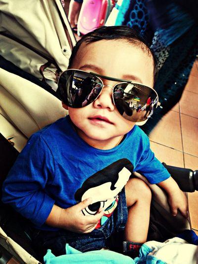 Apabila anak sedaraku Rahman berkaca mata ... Huhuhu .. PorscheDesign Sunglasses Glasses