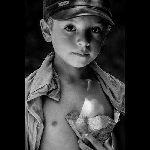 Portrait of shirtless boy