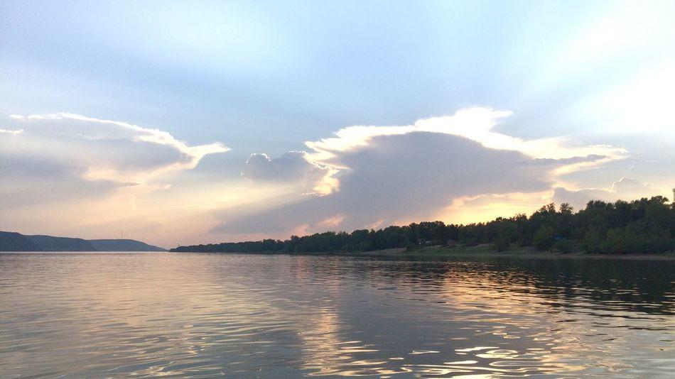 fishing on Volga river with my dad Fishing Motorboat Sky Water Nature Volga Dad Summer16 EyeEmNewHere