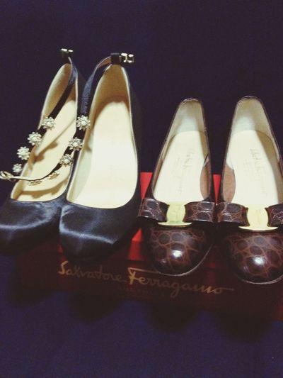 最近買った靴。 フェラガモは古着屋さんで。Salvatore Ferragamo Ferragamo