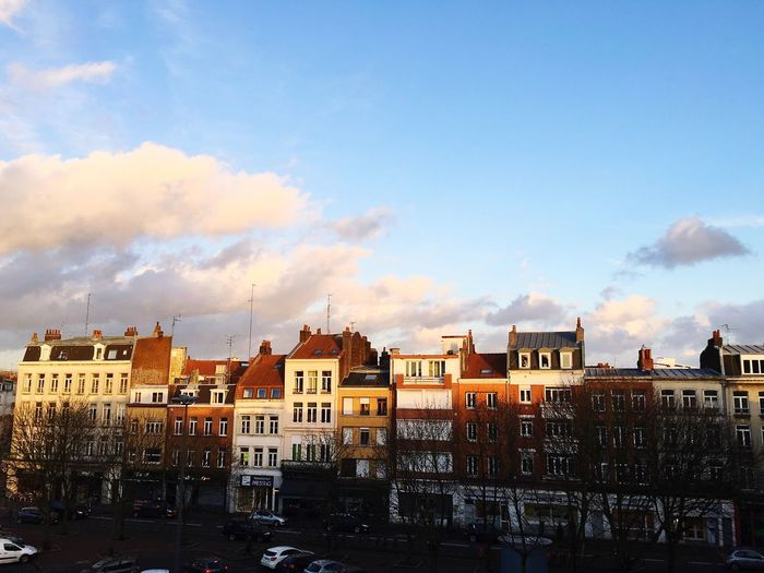 Lille France North Sun Sunset Architecture Sky Skyline Winter Houses French Light