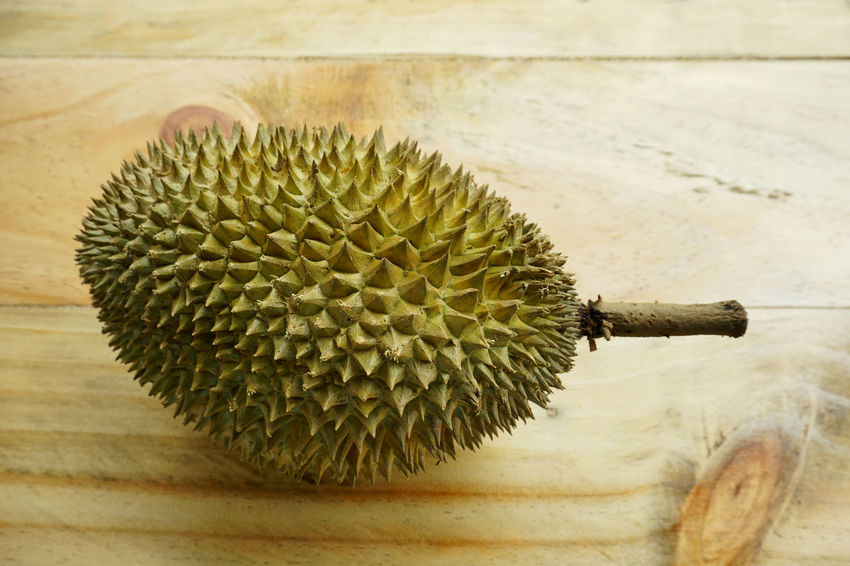 Durian Exotic Food And Drink Close-up Day Durian Fruit Fruit Fruitporn Growth King Of Fruit Nature No People Outdoors Spiked Tasty Thorn