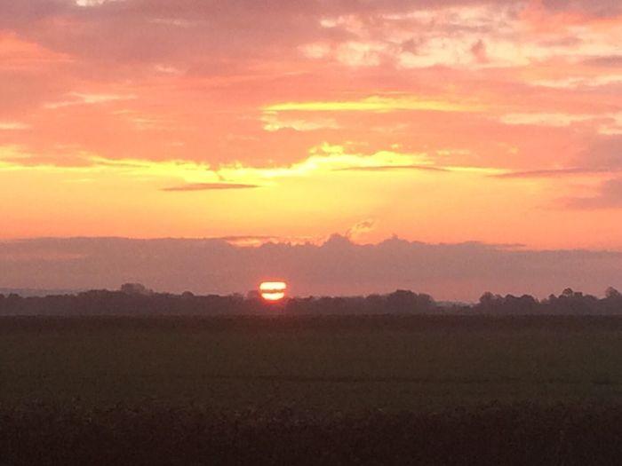 Sun rise over sussex