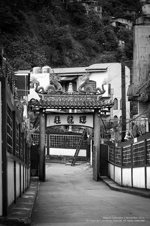 Chinese gate in baguio Eeyemphilippines Chinese Blackandwhite Photography Gate Architecture