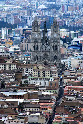 view from the mountain of the Virgin of Quito Architecture Building Building Exterior Built Structure Capital Cities  Capital City Church Church Churches City City City Life Cityscapes Ecuador Exterior Façade Outdoors Place Of Worship Religion Residential Building Residential Structure Southamerica Streetphotography Tower Window