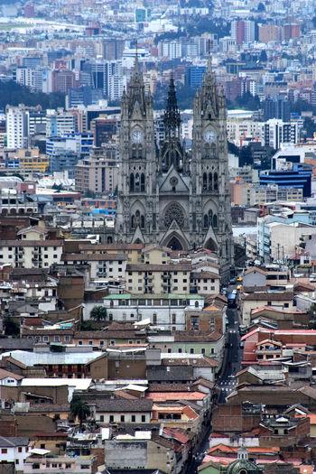 Cityscape With Basilica Del Voto Nacional
