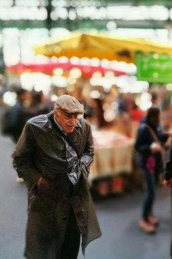 Market shopper Market Senior Adult One Person City Life Autumn Raincoat Borough Market London Street Photography Old Age Rainy Day Solitude Alone In The City  Unnoticed Anonymous Hunched Postcode Postcards