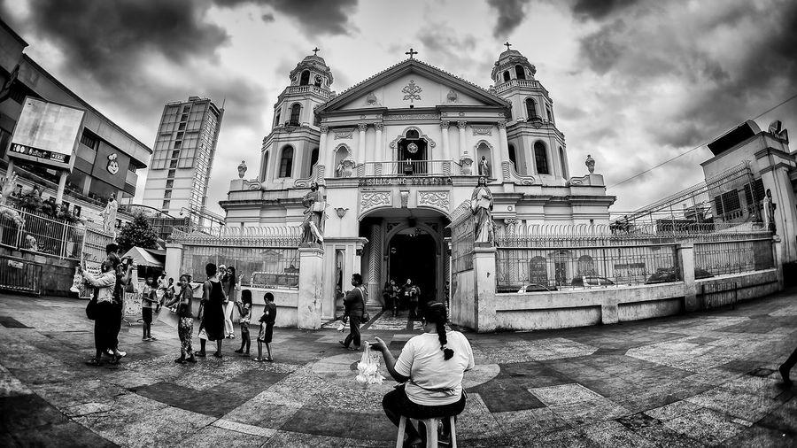 Quiapo Church Quiapo Manila Streetphotography_bw Streetphotography Urbanphotography Black And White Photography Hardlife The Street Photographer - 2015 EyeEm Awards EyeEm Gallery EyeEm Best Shots