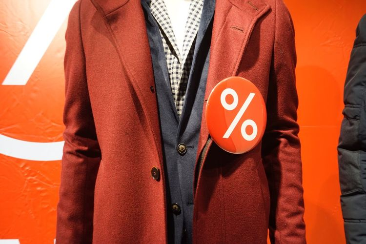 Close-up of mannequin wearing jacket