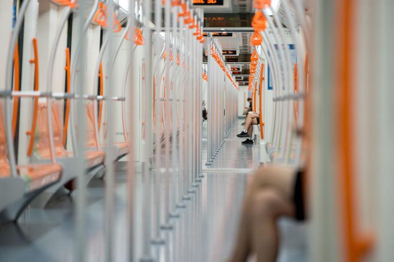 Panoramic view of train