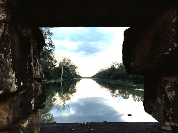 Sunset View Siem Reap Reflection Beauty In Nature Peaceful Travel